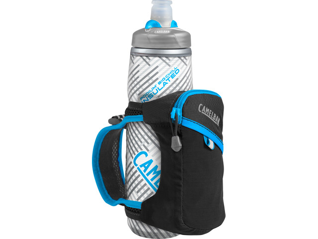 CamelBak Quick Grip Chill Handheld Waterfles, black/atomic blue